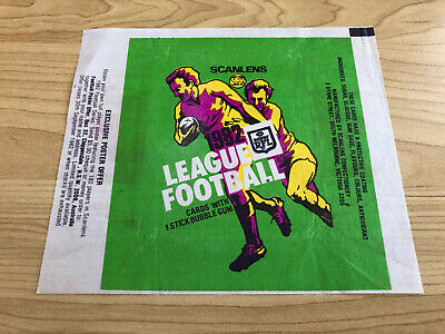 Scanlens - Rugby League Footy NRL - Card Wrapper 1982 - Rare