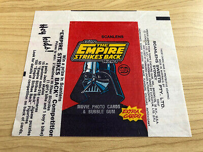 Scanlens - The Empire Strikes Back - Card Wrapper 1980 - Rare RED ESB