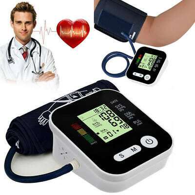 Automatic Digital Upper Arm Blood Pressure Monitor LCD Screen Heart Rate Beat GW