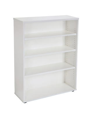 RAPID OFFICE BOOKCASE - WHITE/GREY, Adjustable shelves, Fast Delivery