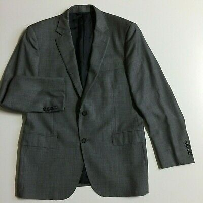 Brooks Brothers 1818 Fitzgerald Mens 42R Gray Windowpane Two Button Suit Jacket