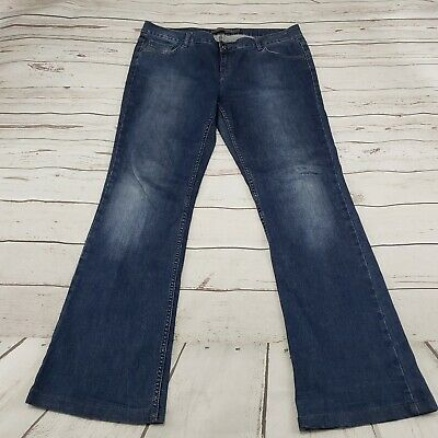 Zara Basic Jeans Size 12 Womens Blue Denim Pants Distressed Used Condition