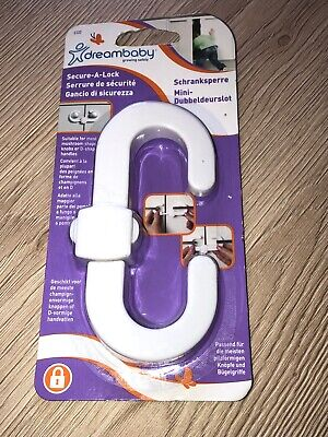 DreamBaby Secure-A-Lock Child Baby Safety Security Cupboard Lock X 2
