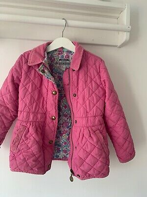 Girls Joules Age 4 Years Coat Pink Quilted Jacket