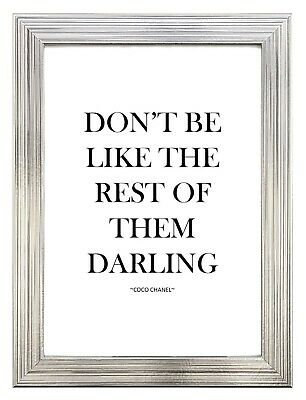 Coco Chanel Inspired Quote A4 Print Home Decor Wall Art Poster Fashion Beauty