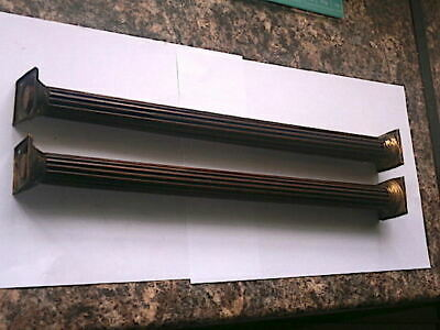C1800 Good Mahogany Reeded Longcase Grandfather Clock Hood Pillers