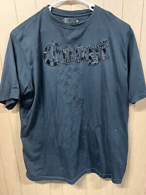 Coogi Australia T-shirt; Mens 3XL; Spelled Out Embroidered; Black On Black