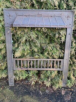 Victorian Cast Iron Fireplace Gas Grate Insert Antique Architecture Garden