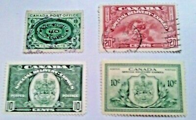 Canadian Special Delivery Stamps. Used. E1//E11.  sal's stamp store.