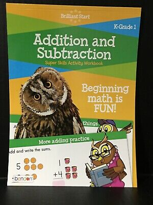 Addition & Subtraction Super Skills Activity Workbook Ages 5-7 K-Grade 1 New