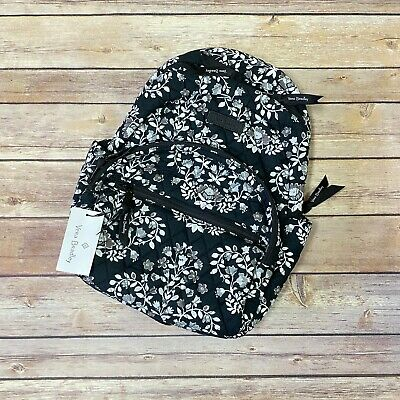 NWT Vera Bradley Women's Essential Compact Backpack Size Small Chandelier Noir