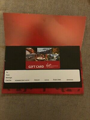 Virgin Experience Days Gift Voucher £25 Value BIN For £20