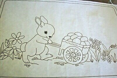 hobbytex  vintage 2518 easter bunny placemat
