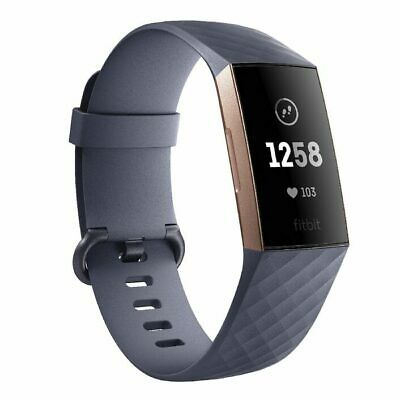 NEW AND SEALED Fitbit Charge 3 - Blue Grey/Rose Gold Aluminium Advanced Tracker