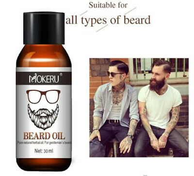 Organic Beard Growth Oil 1pc 30ml 100% Natural For Men Beard Grooming Treatment