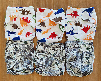 Bulk Cheap Cloth Nappy SHELL 8 Pack Minky Cute Patterns, Zebra, Money, Animals