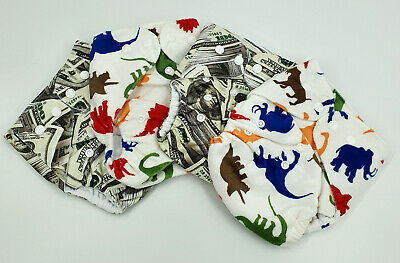 Bulk Cheap Cloth Nappy SHELLS 4 Pack Boy Prints Money Shipped from QLD Australia