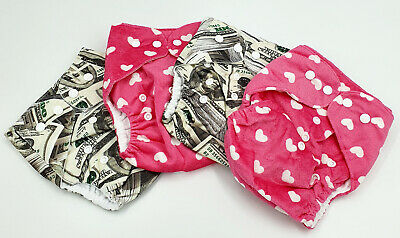 Bulk Cheap Cloth Nappy SHELLS 4 Pack Girl Print Money Shipped from QLD Australia