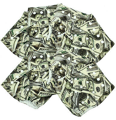Bulk Cheap Cloth Nappy SHELLS 8 Pack Cool Print Money Shipped from QLD Australia
