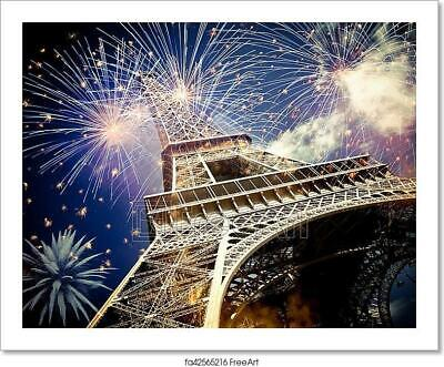 Eiffel Tower At Night Art Print Home Decor Wall Art Poster F