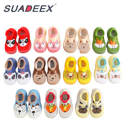 Infant Baby Boys Girls Indoor Slippers Anti-slip Warm Crawling Shoes Crib Socks