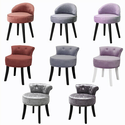 Retro Bedroom Dressing Table Stool Velvet/Crushed Velvet Makeup Piano Chair Seat