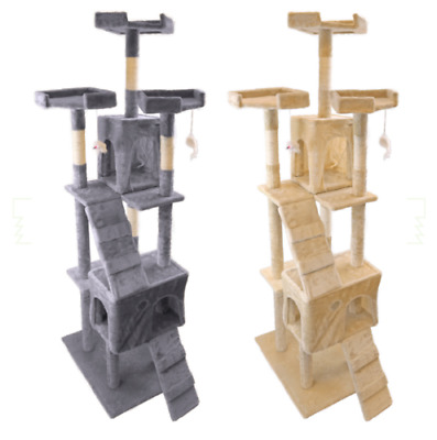 """73"""" Deluxe Cat Tree Tower Condo Furniture Scratch Post Pet Kitty Play House"""