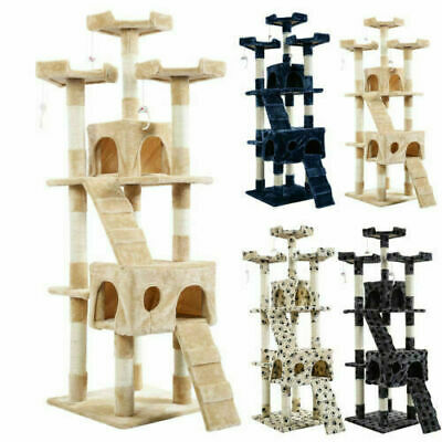 """2019 New 66"""" Cat Tree Tower Condo Furniture Scratching Post Pet Kitty Play"""