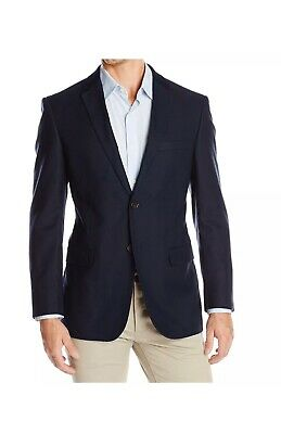 Designer Brand Mens Blazer Blue Size 38 Two Button Notched Lapel $159