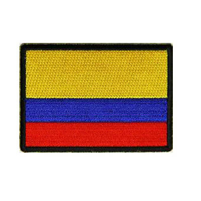 Spain Flag Patch Black Border Spanish Banner Embroidered FAST US SHIPPING