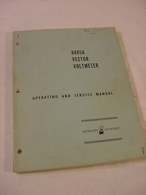 Vtg Manual - 1966 Hp Hewlett Packard 8405A Vector Voltmeter