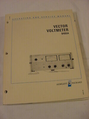 Vtg Manual - 1971 Hp Hewlett Packard 8405A Vector Voltmeter