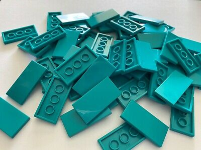Lego 25 New Olive Green Tiles 2 x 4 Flat Smooth Pieces
