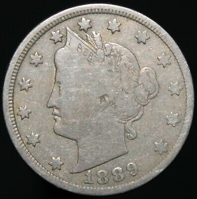 1889 | U.S.A. Liberty V Nickel 5 Cents | Cupro-Nickel | Coins | KM Coins