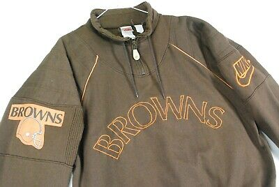 Vintage 90s Nike Gray Tag Cleveland Browns NFL Sweatshirt Jacket Mens M Retro
