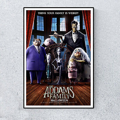 "Animation Comedy Family Movie 24/""x33/"" Poster 005 The Addams Family 2019"