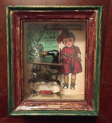 Shadows Of Yesterday Toys In The Cupboard Sewing Machine Little Housekeeper