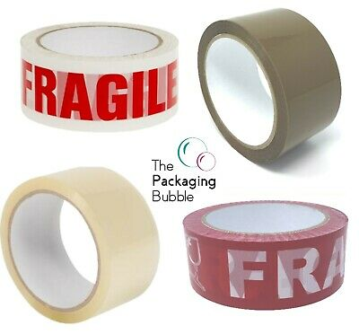 Buff Brown Packaging Parcel Packing Tape Strong 48mm x 66m - 6 Pack 12 Pack