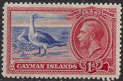 Cayman Islands 1935 KGV 1d Scarlet & Ultramarine MM SG 98 ( F1429 )
