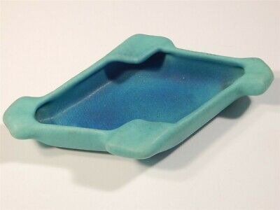 Vintage 1970'S Van Briggle Pottery Ming Turquoise Color Ashtray