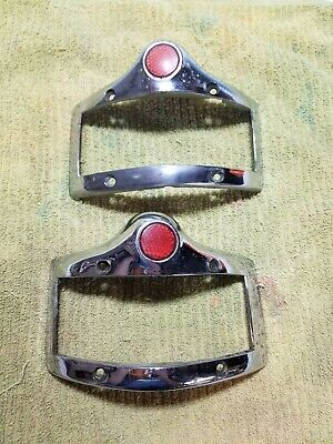 1950 Plymouth Tail Light Pair Left Right Chrome 1343106 1343105