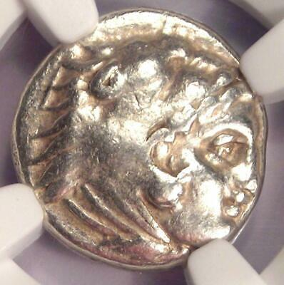 Alexander the Great III AR Drachm Silver Coin 336 BC - Certified NGC Choice Fine