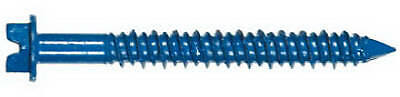 Masonry Screw Anchors With Bit, Hex Head, 1/4 x 2.75-In., 100-Pk.