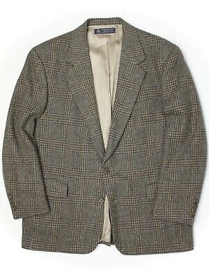 Brooks Brothers Mens Tweed Sport Coat 43R 44R Green Gray Glen Plaid Wool Jacket