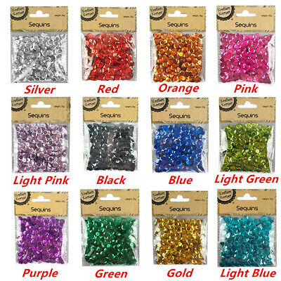20g Sequins Scatters Round Shape Laser Metallic Dance Costume Bead Craft Wed Gym