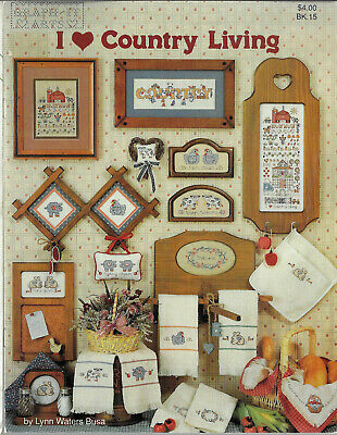 I Love Country Living GraphIt Arts cross stitch chart Lynn Waters Busa