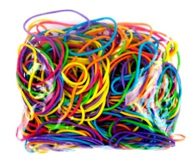 Rubber Bands No.16 - 60 x 1.5 mm - Assorted Colours - 50g - Work Home School Fun