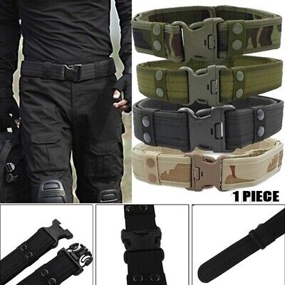 Men Military Belt Tactical Army Hunting Outdoor Waistband Nylon Training Belt US