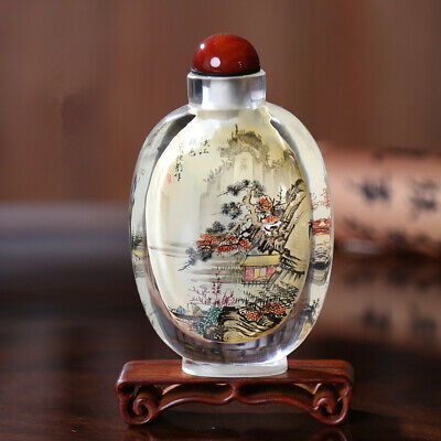 Inner Painting Snuff Bottle Chinese Antique Autumn Scenery