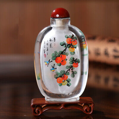 Inner Painting Snuff Bottle Chinese Antique Everything Goes Well Christmas Gift